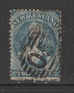 New Zealand a 2d blue QV FFQ