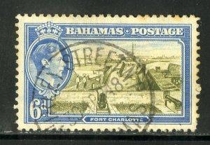 BAHAMAS 107 USED SCV $1.25 BIN $.60 FORT CHARLOTTE