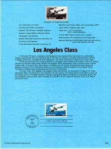 US SP1339 Los Angeles Class Submarine 3372 Souvenir Page FDC