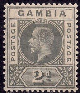 Gambia 1921 - 22 KGV 2d Grey MM SG 111 ( E87 )
