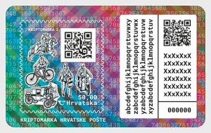 Stamps Croatia 2020. - Crypto Stamp  - Miniature Sheet.