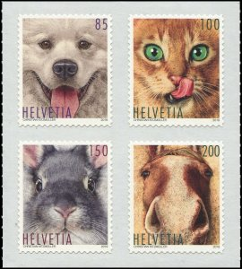 Switzerland 2019 Sc 1720a Cat Dog Horse Rabbit CV $11