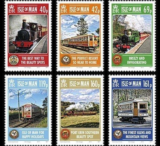 ISLE OF MAN 2013 TRAINS LOCOMOTIVES RAILROAD RAILWAY STREETCARS 15938-10