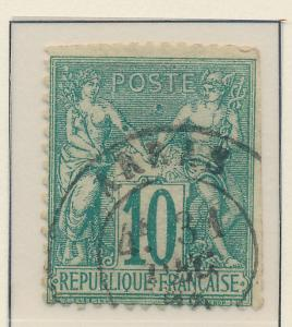 France Stamp Scott #68, Used, Faults - Free U.S. Shipping, Free Worldwide Shi...