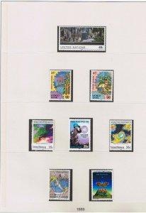 UN NY #546-571 MVFLH OG  1989 complete set  w/flags & blocks  Free S/H