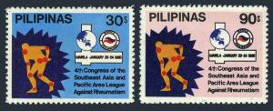 Philippines 1447-1448,MNH.Michel 1331-1332. League against Rheumatism,1980.