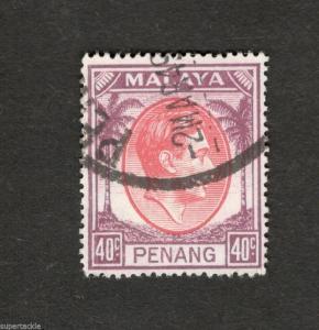 1952 Malaya Penang SCOTT #18 Θ used stamp