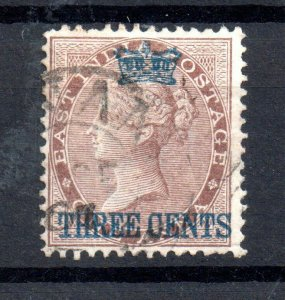 Straits Settlements 1867 3c on 1A brown fine used SG3 WS15555