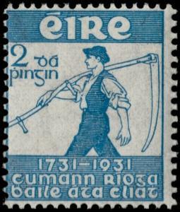 ✔️ IRELAND 1931 - FARMER AND SCYTHE - SC. 84 MNH OG [IR056]