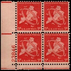 US - C38 -  Plate Block - MNH - SCV-3.50