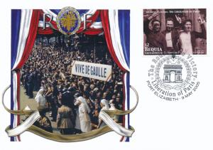 [96865] Bequia 2005 WWII Liberation Paris Special Cachet Cover