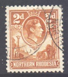 Northern Rhodesia Scott 31 - SG31, 1938 George VI 2d Yellow used