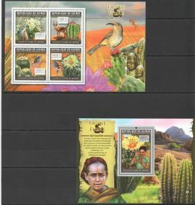 Guinea 2011 cactus birds klb+s/s MNH