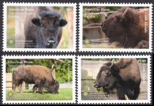 COOK ISLANDS 2021 AMERICAN BISON ANIMALS ANIMAUX SAUVAGES WILDE TIERE [#2101]