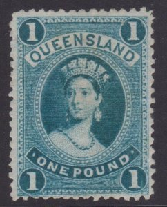Queensland Sc#78 MLH - small pencil number on back