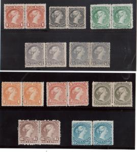 Canada #21 - #30 Mint Set In Horizontal Pairs