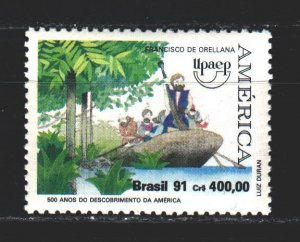 Brazil. 1991. 2434 from the series. 500 years of the discovery of America. MNH.