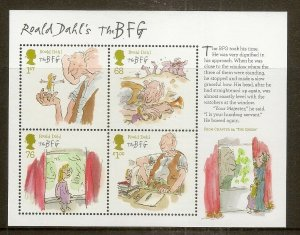 GB 2012 Roald Dahl BFG Mini Sheet MNH