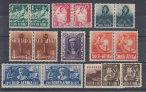 South Africa Sc 81-89 MLH. 1941-1943 WWII cplt, VF