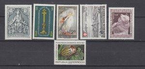 J29476 1967, austria sets of 1 mnh #791-6 designs