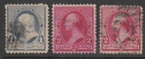 U.S. Scott #219-220-220c Franklin & Washington Stamp - Used Single