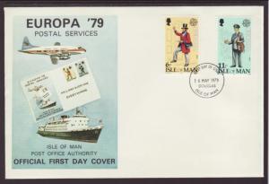 Isle of Man Europa 1979 U/A FDC BIN