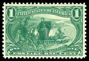 U.S. TRANS-MISS. ISSUE 285  Mint (ID # 83826)