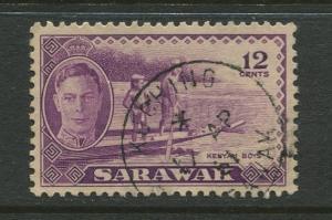 Sarawak -Scott 187 - KGVI Definitives - 1950 - VFU - Single 12c Stamp