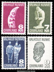 Greenland Scott 102-105 Mint never hinged.