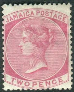 JAMAICA-1870 2d Rose.  A mounted mint example Sg 9