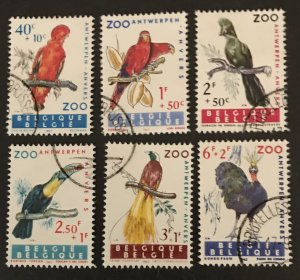 Belgium 1962 #B712-17, Used, CV $5.10