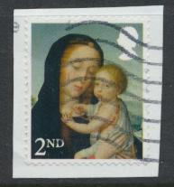 GB Christmas 2017 Madonna and Child  2nd Class  Used on piece  see details