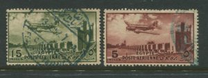 STAMP STATION PERTH Egypt #C65-C66 Air Post Issue Used 1953