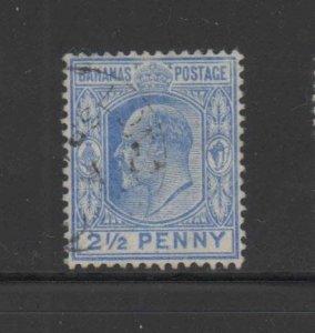 BAHAMAS #38  1902  2 1/2p KING EDWARD VII    F-VF USED
