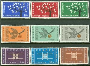 EDW1949SELL : CYPRUS 3 Key Europa sets. All Very Fine, Mint Never Hinged.