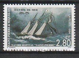 1994 St. Pierre and Miquelon - Sc 603 - MNH VF - 1 single - Hospital Ship