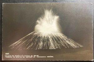 1948 Mexico RPPC Postcard Cover To Oak Park IL USA Paricutin Volcano Eruption