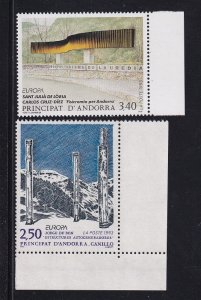 Andorra French  #425-426  MNH  Europa  sculptures