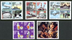Barbuda MNH Blocks 318-22 Special Events SCV 12.25