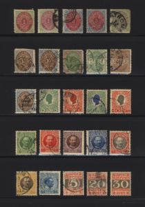 Danish West Indies #5-#J7 1874-1905 M&U Lot 25 Items