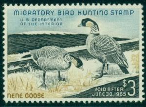 US #RW31 $3.00 Hawaiian Nene Geese, og, NH, SUPERB centering
