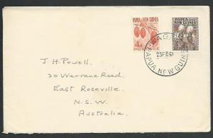 PAPUA NEW GUINEA 1961 cover ex WABANG...........................59762