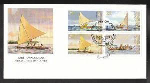 Micronesia 176a Canoes U/A FDC