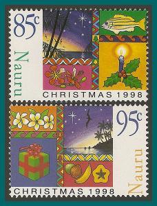 Nauru 1998 Christmas, MNH 460-461,SG491-SG492