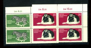 German DDR #552-53 MINT Blocks VF NH Cat$32.50