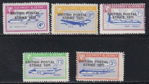 Guernsey -Alderney, Local Issues, Airplanes, Overp for British Postal Strike, NH