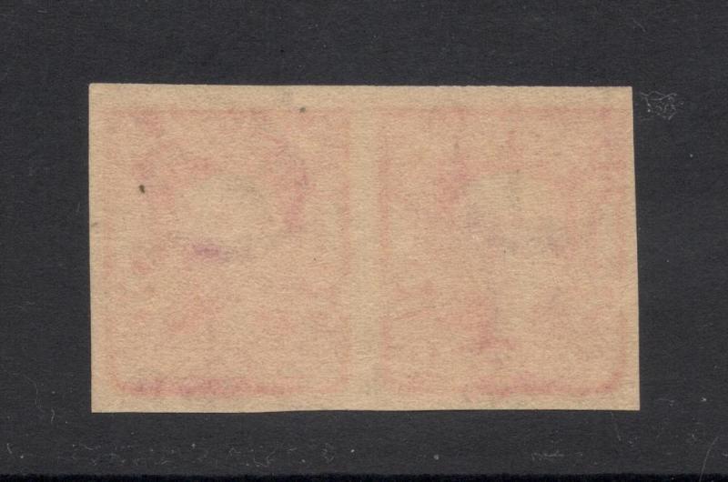 US#320 Carmine Type I - Imperf. Pair - Unused - O.G. - N.H.