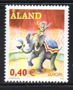 Aland Finland Sc 204 2002 Europa Circus mint NH