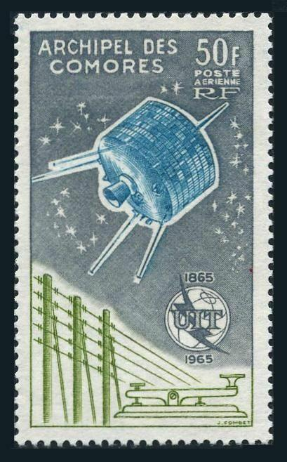 Comoro Isls C14,MNH.Michel 67. ITU-100,1965.Syncom satellite.