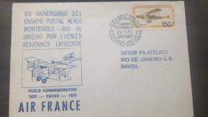 U) 1975, URUGUAY, 50TH ANNIVERSARY OF THE MONTEVIDEO AIR POSTAL TRIAL - RIO DE